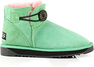 UGG Boots Short Button - Premium Sheepskin and 100% Australian Made, Women Shoes