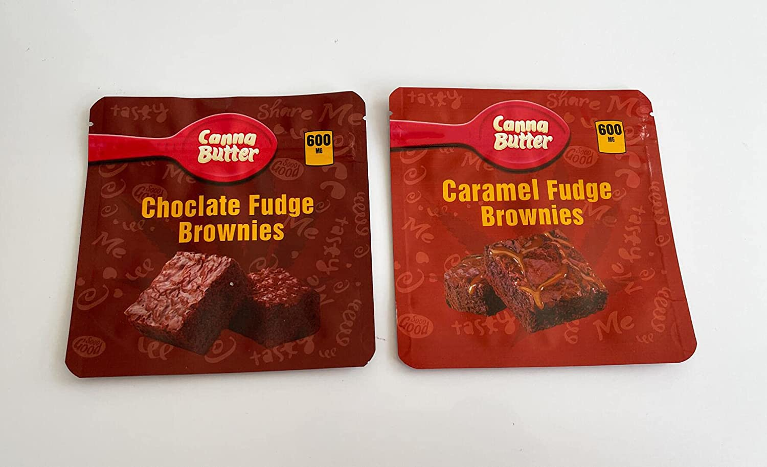 100 Sale item PCS Edible Packaging 2 Mix Fud Choclate Butter Caramel New product Canna