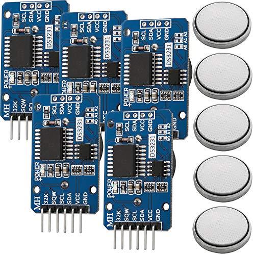 AZDelivery ⭐⭐⭐⭐⭐ 5 x Real Time Clock RTC DS3231 I2C Echtzeituhr für Arduino inklusive eBook