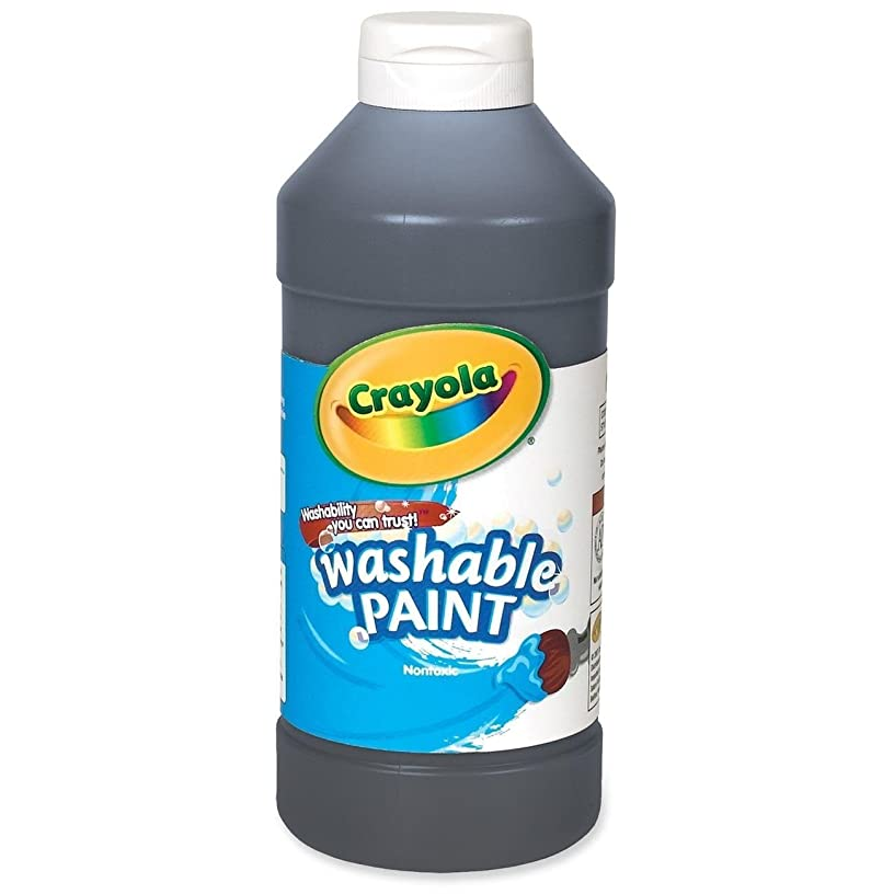 Crayola Washable Paint, Black, 16 Oz