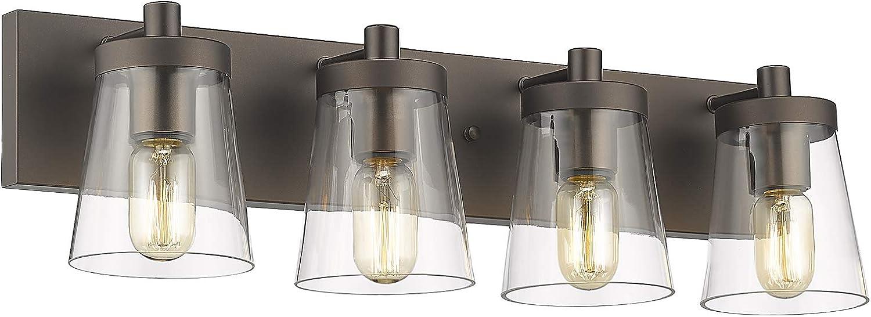 Farmhouse 4-Light Bathroom Vanity Lights Lamp Wall Vintage HWH Large discharge Regular dealer sale