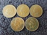 1880 thru 1899 Various Indian Head Pennies 5...