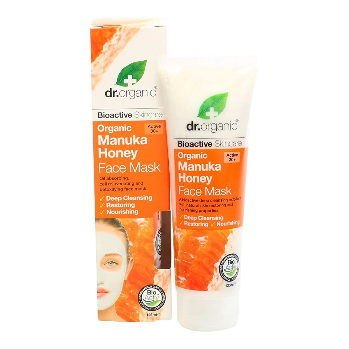 無効にする噴火独占Dr.organic Organic Manuka Honey Face Mask 125ml [並行輸入品]