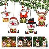 APERIL 5Pcs Adornos navideños decoración, Adornos Navidad Colgantes de Madera Nariz roja...