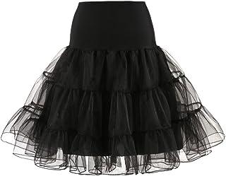 08031fe6256 Fathoit Jupon Années 50 Vintage en Tulle Rockabilly Les Femmes PlisséEs  Jupe Courte Haute Taille Adulte