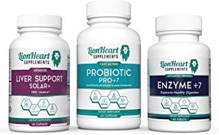 Gallbladder Support Kit - Digestive Enzymes Ox Bile, Probiotics & Liver Support Supplements - Milk Thistle For Detox & Cle...