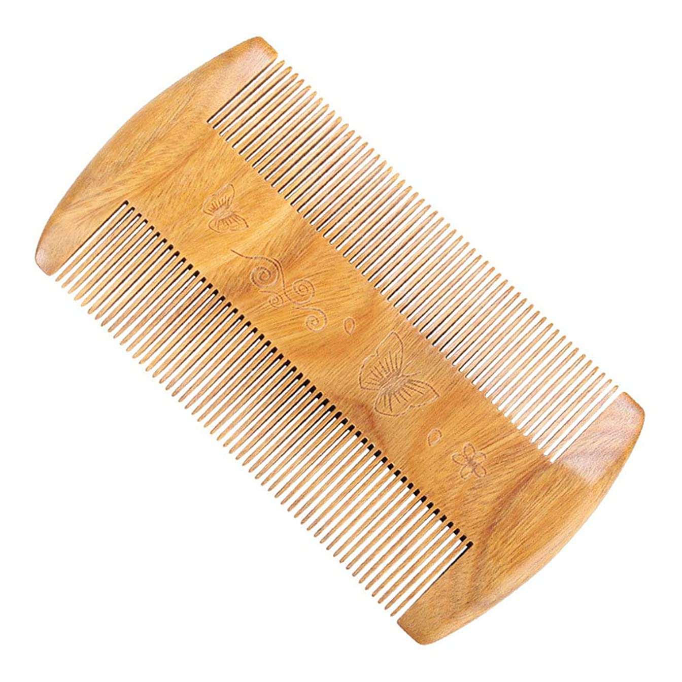 不快抵抗する適度なヘアーコーム 木製のひげ櫛ふけふけサンダルウッド 理髪の櫛