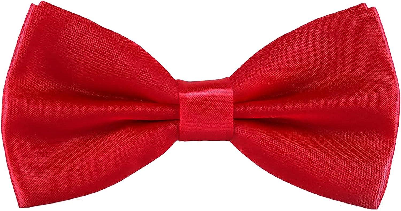 Pylrus Men's Pre-Tied Bow Ties Formal Tuxedo Adjustable Length Satin Bowtie 1 Pack