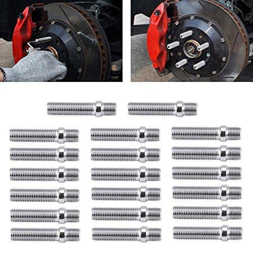 【20個】57mm スタッドボルト スタッド変換 エクステンデッド ホイール ネジ 車輪スタッド変換用 拡張ホイール ネジアダプタ M12×15 BMW用 自動車用