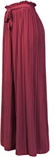 Design by Olivia Women's Elastic Waist Chiffon Loose Pleated Wide Leg Palazzo Overlay Pants/Capri/Skirt