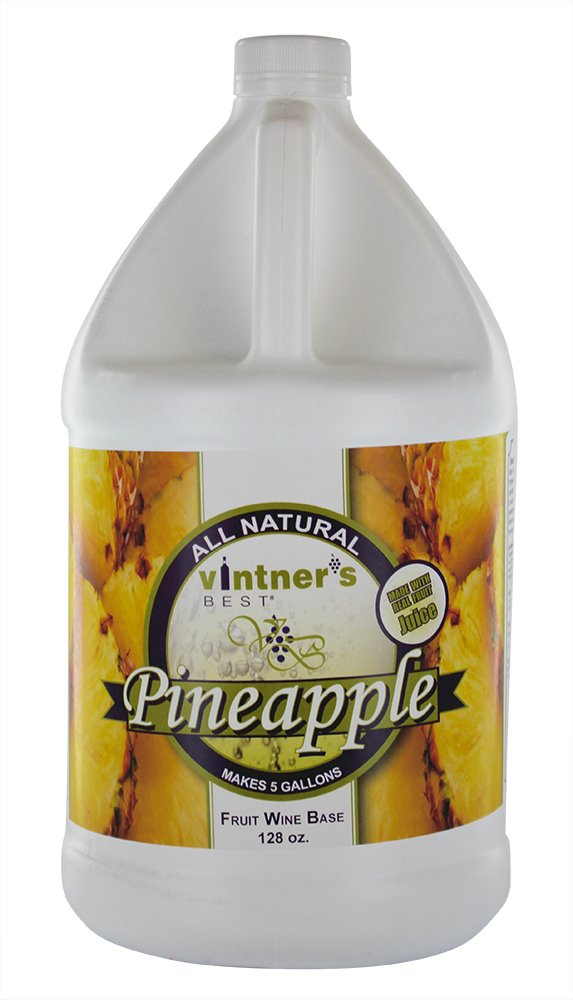 Vintner's Best Pineapple Fruit Wine Gallons Jug Max 47% OFF 5 Some reservation Base Makes