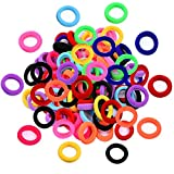 Lintopos Baby Hair Ties Girl, Elastic Hair Bands Ties Small Size Rubber Band Ponytail Holders (100 PCS)