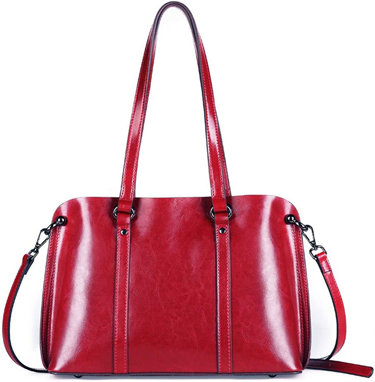 RFVBNM RFVBNM RFVBNM Tasche weibliche Leder Schulter Messenger Bag Handtaschen große Kapazität lässig Damen Tasche, weinrot B07K9JZR6V  ein guter Ruf in der Welt 0b26d3