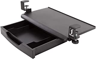 Stand Steady Clamp On Keyboard Tray with Drawer   Two in One