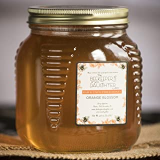 Raw Orange Blossom Honey by the Beekeeper's Daughter - 2.5 lb Jar (2.5 pound) - Pack of 3