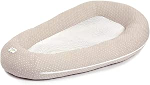 HLR Travel Cots Crib Mesh Newborn Basket Bionic Design Sleeptight Breathable Floodproof Detachable Washable  Color