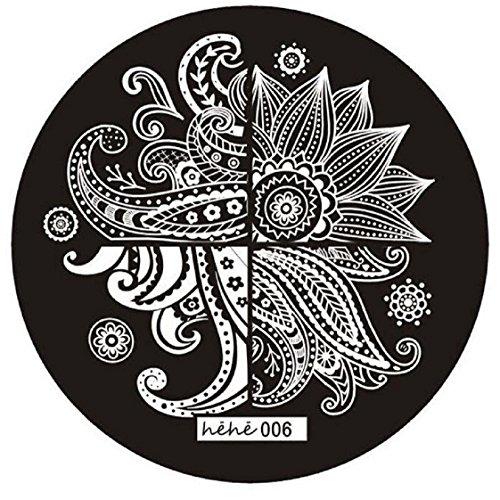Vovotrade Mignon Motif Nail Art Photo Stamp Plaques Stamping Manicure Modèle 006