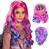 TranRay Descendants 3 Audrey Mal Wig Costume Fancy Hair Wigs Outfit costume Party Costume For Kids Girls