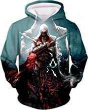 CHENMA Men Cosplay 3D Print Pullover Hoodie Sweatshirt Front Pocket