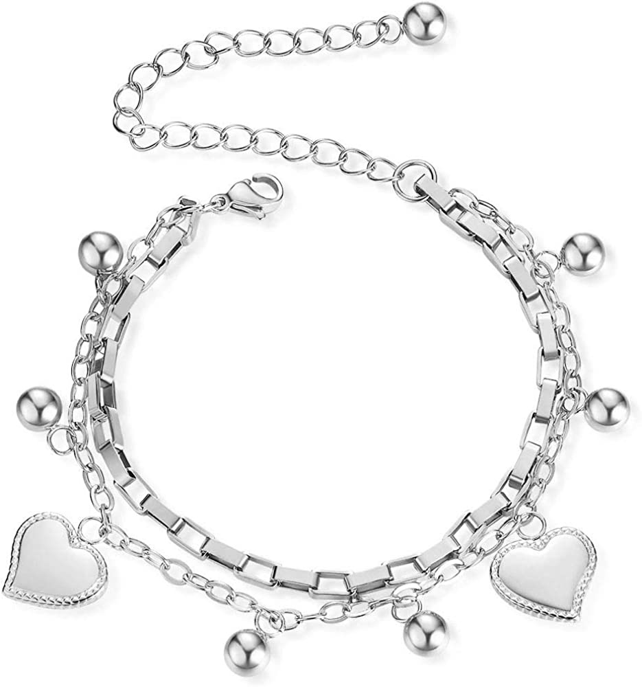 CUSTZ Titanium Multi-layer Bracelet Love fashion Bracelet for Women and Girls (js000061)