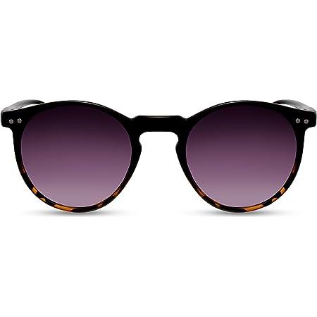 Cheapass Sonnenbrille Rund Verspiegelt UV-400 Exklusive Festival-Brille Farbvariation Plastik Damen Herren