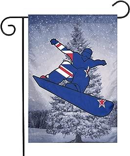 Q99 New Zealand Flag Snowboard Garden Flag Decorative Banner 12 X 18 Inch Courtyard Flag Balcony Flag