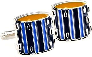 MRCUFF Drum Set Drummer Pair Cufflinks in a Presentation Gift Box & Polishing Cloth
