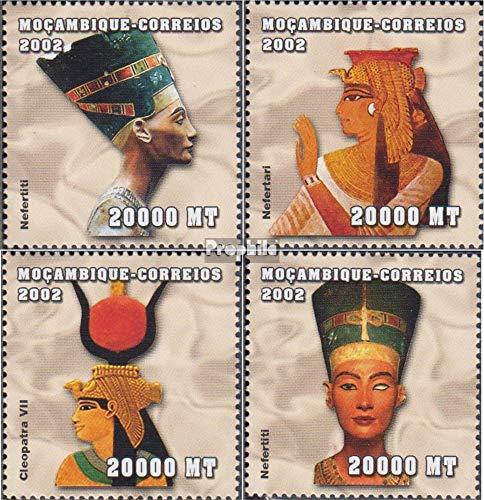 Prophila Collection Mosambik 2441-2444 2002 Altägyptische Herrscher (Briefmarken für Sammler) Kultur