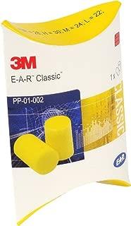 3M EAR Classic tapones para los oídos - 50 Pares Amarillos envueltos individualmente - Protección Auditiva SNR = 28 DB