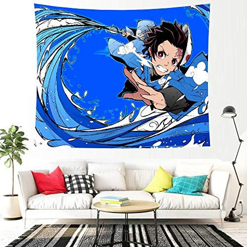 LSSWY Tapices,Anime Sword Art Online Tanjirou Juegos HD Arte Cortinas Tapetes De Yoga Sábanas Tabiques Habitación Infantil Sala De Estar Decoración del Hogar Size D