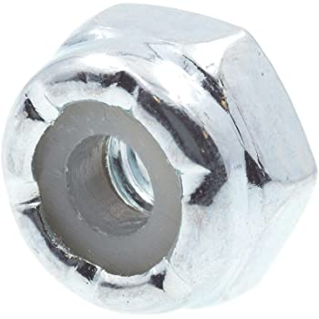 1//4 in.-20 Grade 2 Zinc Plated Steel 25-Pack Prime-Line 9075199 Nylon Insert Lock Nuts