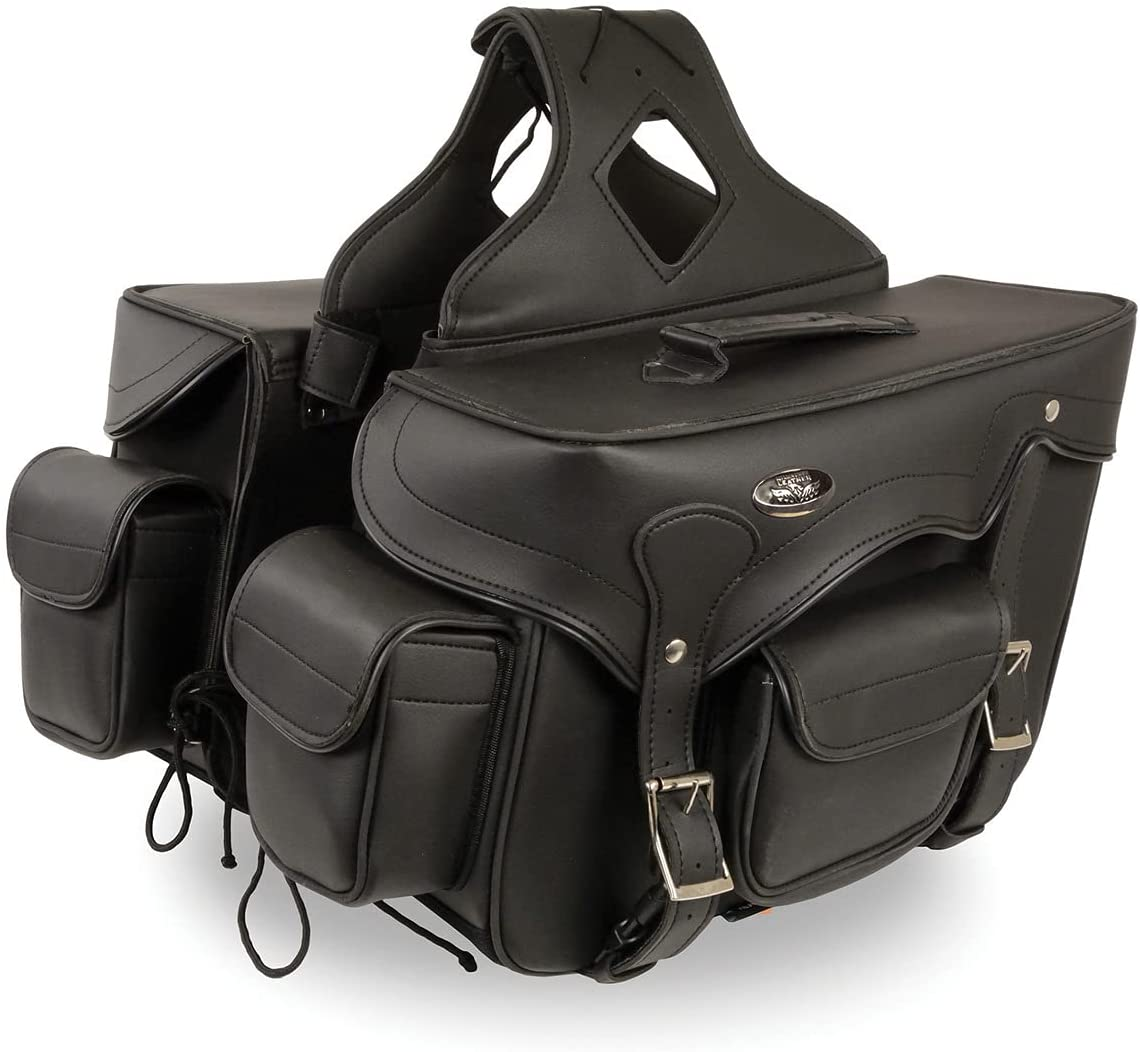 Milwaukee Leather Sale Ranking TOP13 Special Price SH66602 Zip-Off Double Studded PVC Thro Pocket