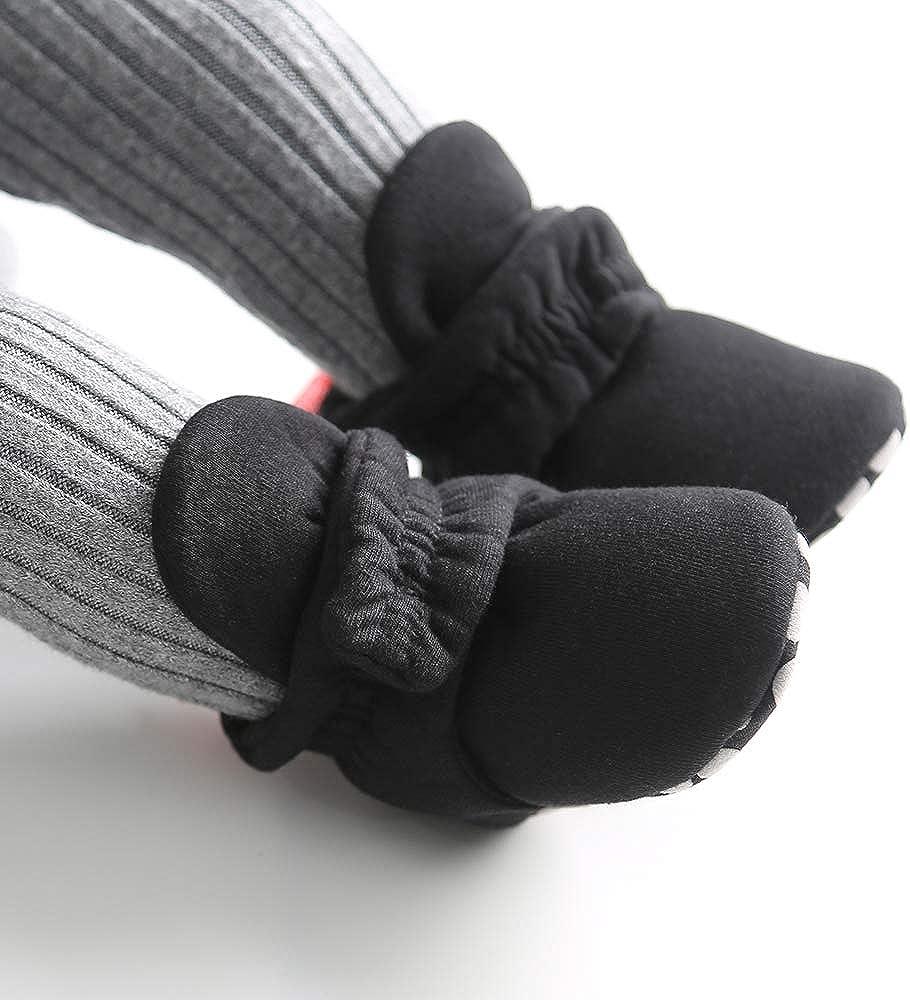 LACOFIA Baby Boys Girls Anti-Slip Soft Sole Slipper Booties Infant Winter Crib Shoes