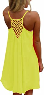 US Size Women's Plus Size Sexy Summer Sleeveless Vibrant Color Chiffon Loose Bathing Suit Cover Up