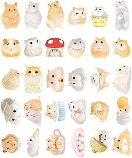 Animal Pattern Tarjetas Postales Pack of 30 Cute Hamster Shape