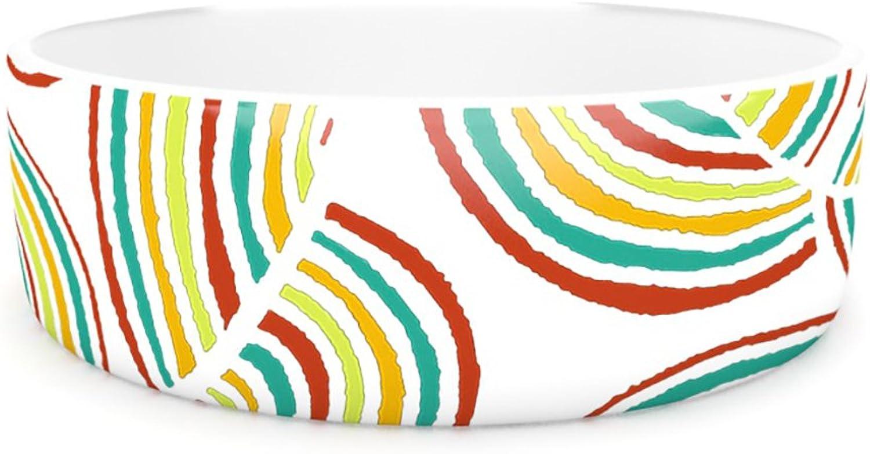 Kess InHouse Pom Graphic Design Rainbow Sky  Pet Bowl, 7Inch