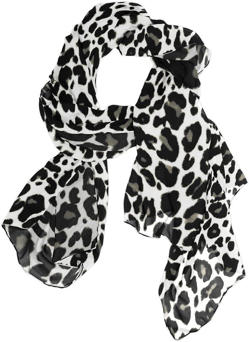 Use4 Fashion Lightweight Animal Leopard Print Chiffon Silk Long Scarf Shawl Wrap