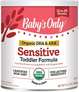 Baby's Only Organic LactoRelief with DHA & ARA Toddler Formula - Non GMO, USDA Organic, Clean Label Project Verified, Lact...