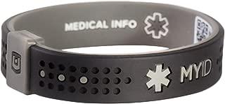 MyID Sleek Emergency ID Bracelet Black