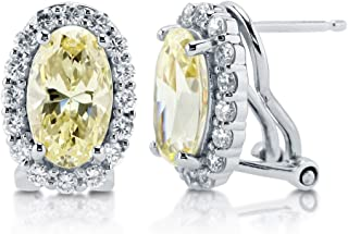BERRICLE Rhodium Plated Sterling Silver Cubic Zirconia CZ Love Knot Wedding Stud Earrings