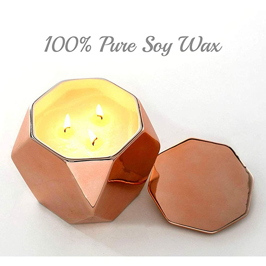 モルヒネ万歳スポーツ27Oz特大の缶3つの中心の香料入りの蝋燭の環境に優しい植物の精油の大豆のワックスの無煙蝋燭(5箱)