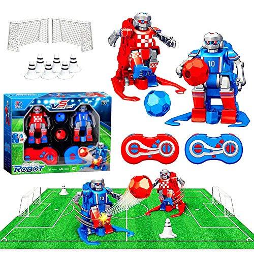 libelyef Fußball Roboter, 2,4 GHz Funkfernsteuerung, Fußballroboter-Spielzeug, Indoor-Outdoor-Fun-Sport-Ballspiele Für Jungen Und Mädchen, Einschließlich Fußbälle Und Zubehör