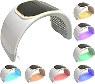 LED Facial Light Therapy - 7 Colors Including Red Light Therapy For Healthy Face and Skin Rejuvenation   Home Light Therap...