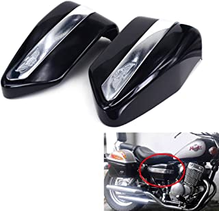 JFG RACING Black Motorcycle Battery Cover Guard Protector Two Sides Fairing One Pair For For Honda CMX250 1996-2005 CMX250C 2003-2005 CA250 1995-2005