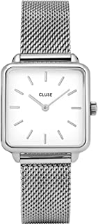 CLUSE Women's Year-Round Quartz Watch with Stainless Steel Strap, Silver, 16 (Model: CL60001)