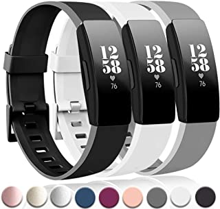 Tobfit Sport Bands Compatible with Fitbit Inspire HR/Inspire/Ace 2 Fitness Tracker Accessories Strap for Women Men, Small Large