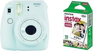 Fujifilm Instax Mini 9 Blanco + 1 paquetes de películas fotográficas instantáneas (10 hojas)