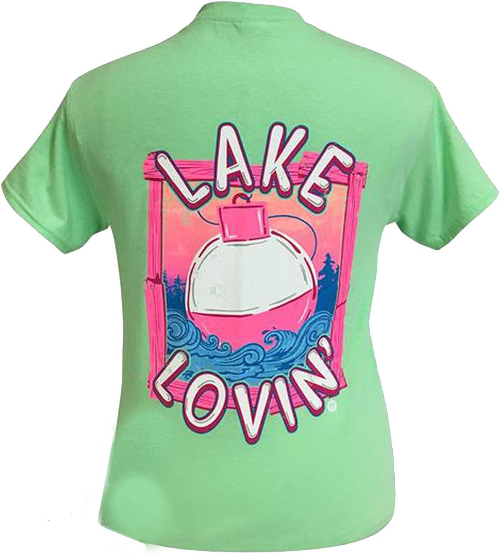 Girlie Girl Lake Lovin Mint Preppy Short Sleeve TShirt
