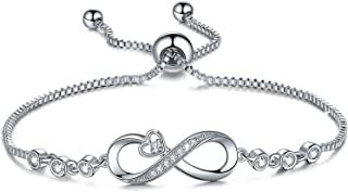 Infinity Heart Bracelets for Women,Birthday Christmas Gifts Jewelry for Wife Girlfriend Mom from Daughter