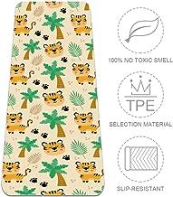 Nananma Esterilla de Yoga de 72 Pulgadas de Largo, cómoda, para Ejercicio, Yoga, Pilates, Tigre con Estampado de árbol, certificación SGS TPE, ecológica, Antideslizante, 6 mm de Grosor